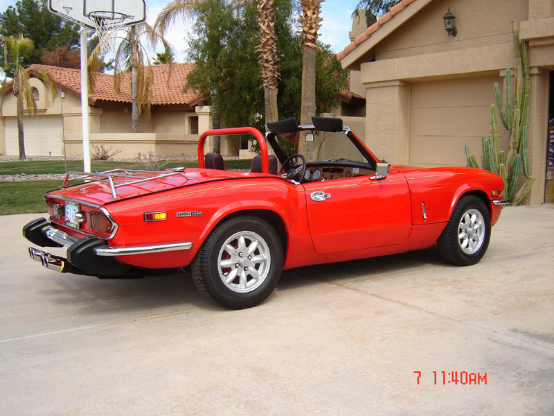 This 1974 Red Triumph Spitfire